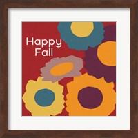 Framed Happy Fall