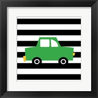 Framed Green Car