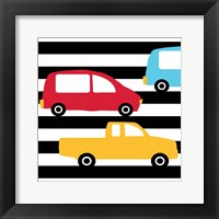 Framed Bright Cars Multi
