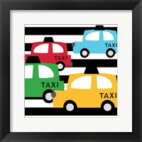 Framed Bright Multi Taxis