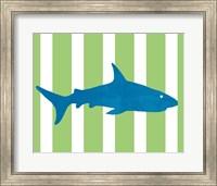 Framed Blue and Green Shark