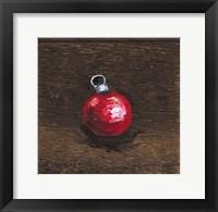 Framed Red Bulb