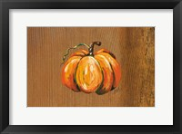Framed Orange Pumpkin
