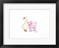 Framed Duck and Pig