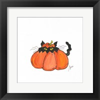 Framed Jack O Cat