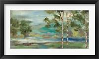 Framed Aspens by the Lake