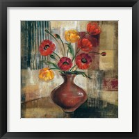 Framed Poppies in a Copper Vase I