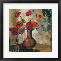 Framed Poppies in a Copper Vase II