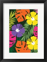 Framed Tropical Floral