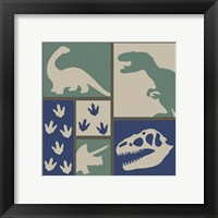 Framed Dino Collage