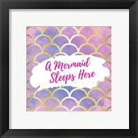 Framed Mermaid Sleeps Here