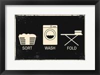 Framed Sort, Wash, Fold