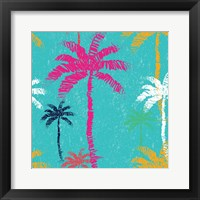 Framed Tropical Palm Tree Pattern