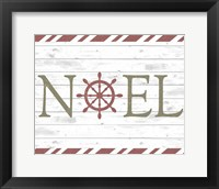 Framed Coastal Noel Christmas