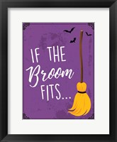 Broom Fits Framed Print
