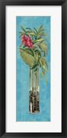 Framed Tropical Lush I on Blue