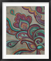 Framed Bohemian Paisley I Aubergine