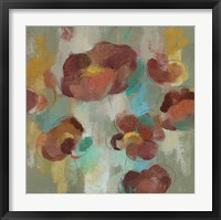 Framed Marsala Blooms III