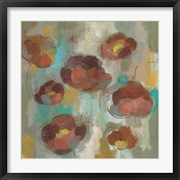 Framed Marsala Blooms II