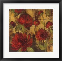 Framed Majestic Dahlias I