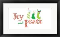 Framed Joy and Peace Stockings