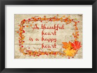 Framed Thankful Happy Heart