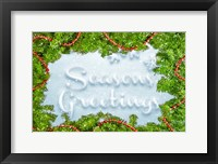 Framed Seasons Greetings