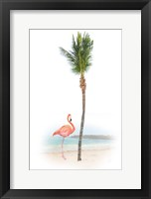 Framed Flamingo in Paradise