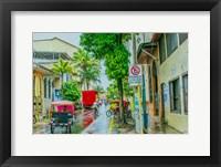 Framed Rainy Street Iquitos Peru
