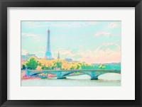 Framed Pastel Paris