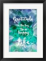 Framed Gratitude is the Key