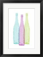 Framed Bottles Tres