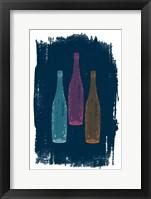 Framed Bottles on Navy