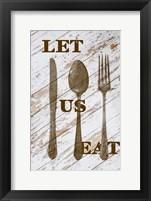 Framed Let Us Eat