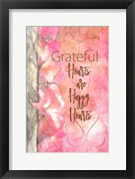 Framed Grateful Hearts