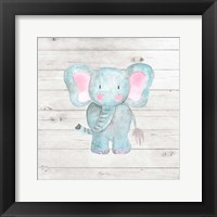 Framed Watercolor Elephant