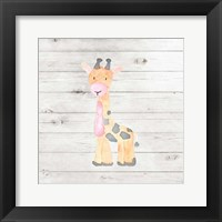 Framed Watercolor Giraffe