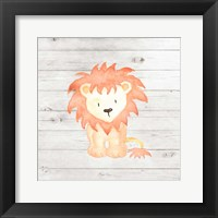 Framed Watercolor Lion