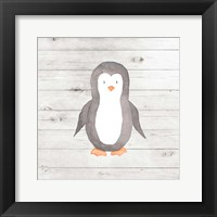 Framed Watercolor Penguin