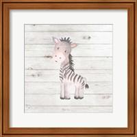 Framed Watercolor Zebra