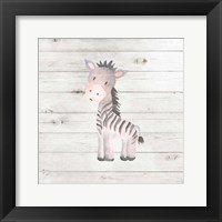 Framed Watercolor Zebra