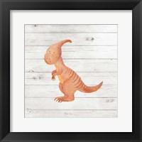 Framed Water Color Dino III