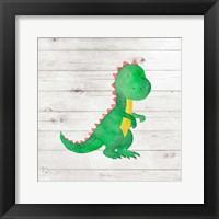 Framed Water Color Dino IV