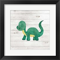 Framed Water Color Dino VI