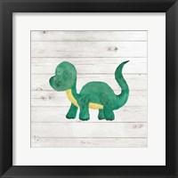 Framed Water Color Dino VI