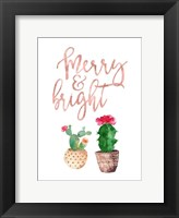 Framed Merry and Bright Succulent