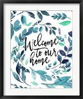 Framed Welcome to Our Home - Blue