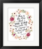 Framed Psalm 118