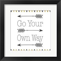 Framed Go Your Own Way Square