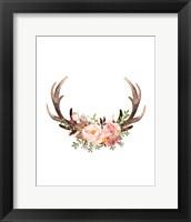 Framed Floral Antlers